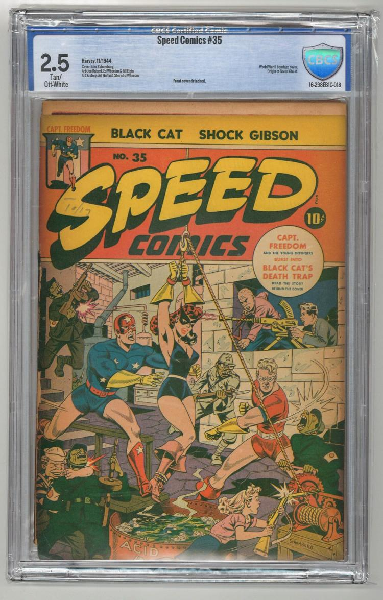 CBCS 2.5 Speed Comics #35 1944