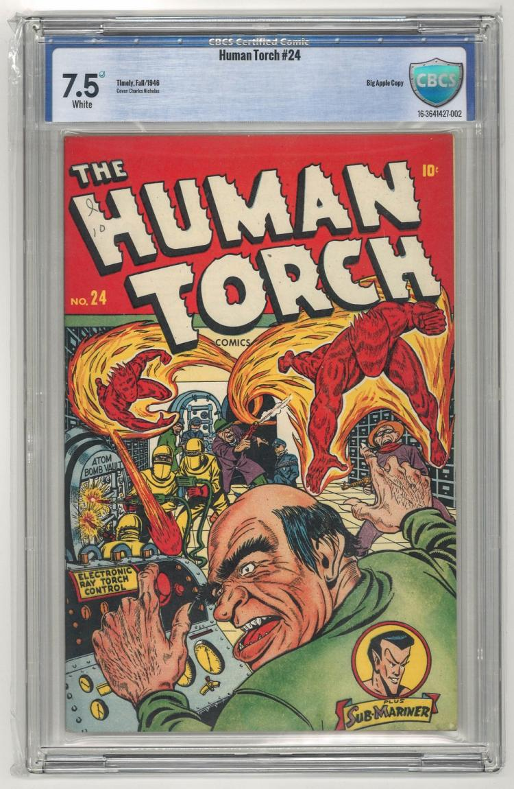 CBCS 7.5* Human Torch #24 1946 Big Apple Copy