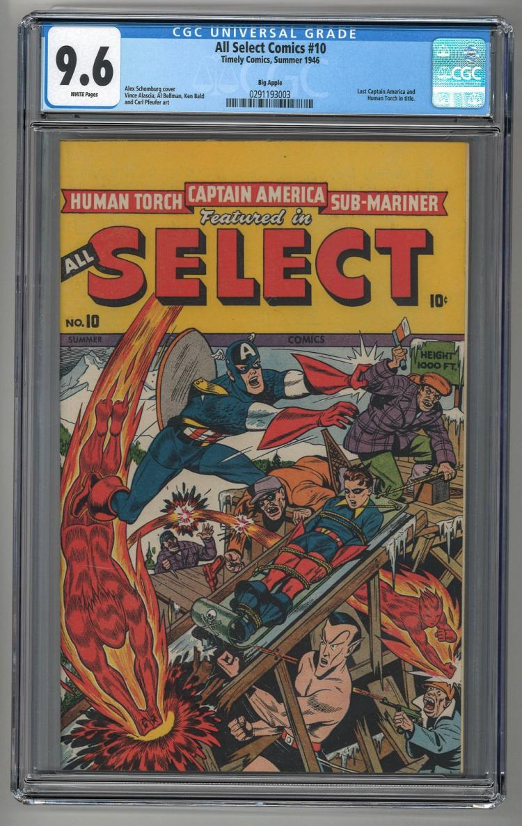 CGC 9.6 All Select Comics #10 1946 Big Apple Copy