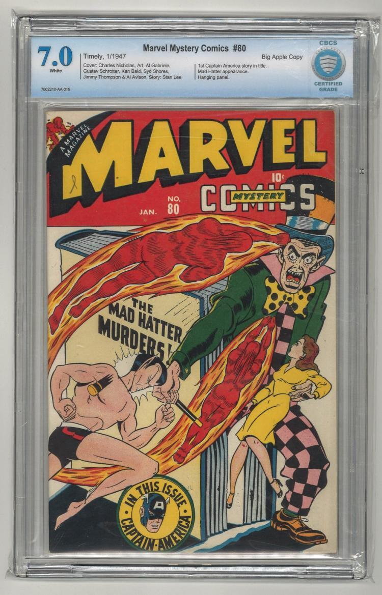 CBCS 7.0 Marvel Mystery Comics #80 Big Apple Copy