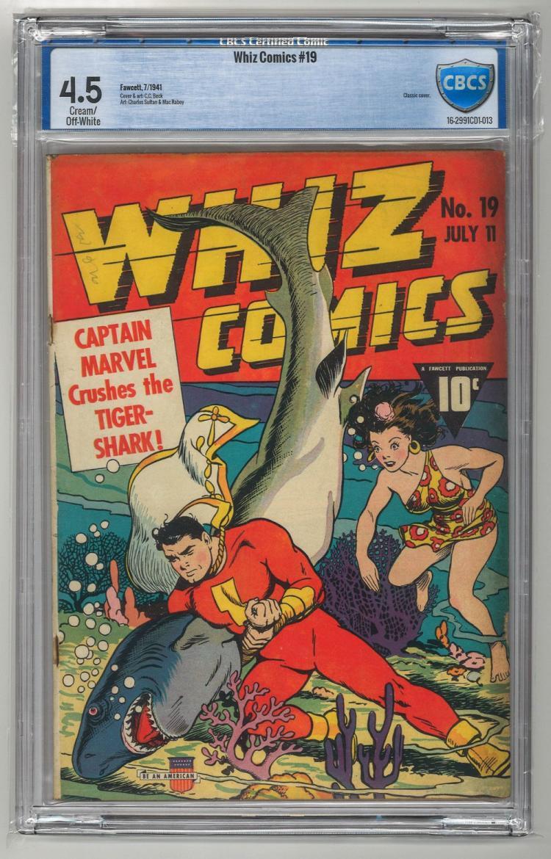 CBCS 4.5 Whiz Comics #19 1941