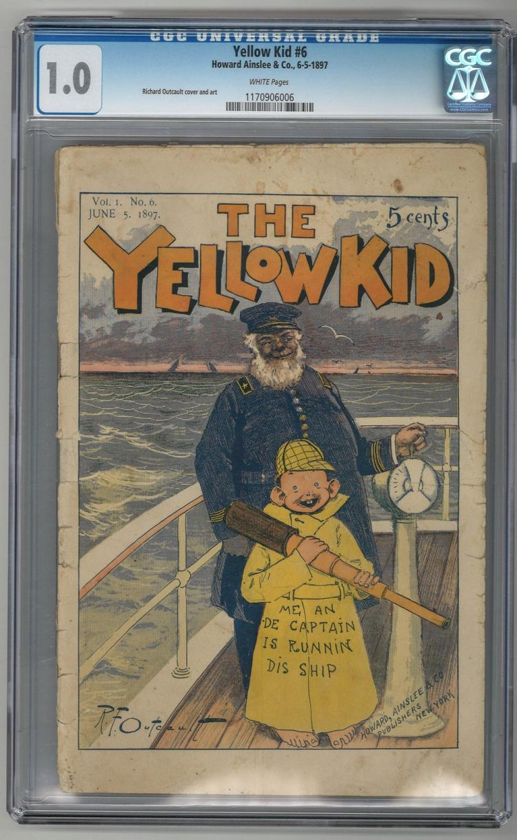 CGC 1.0 Yellow Kid #6 1897