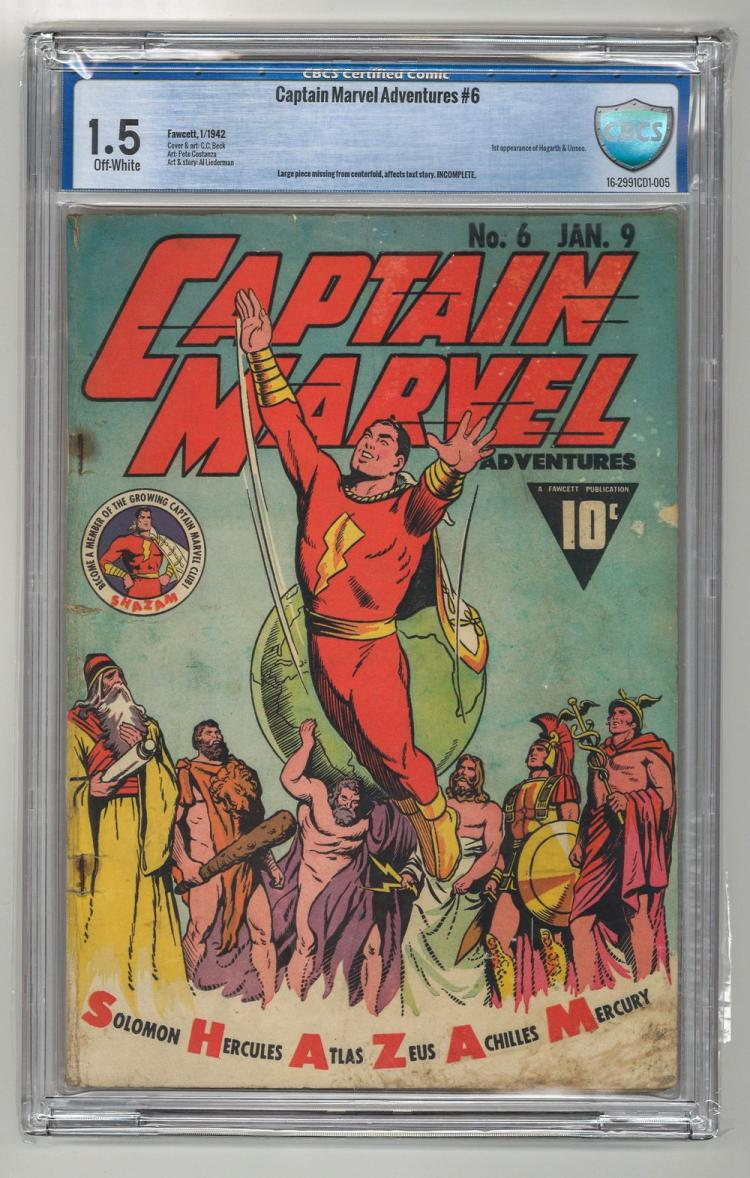 CBCS 1.5 Captain Marvel Adventures #6 1942