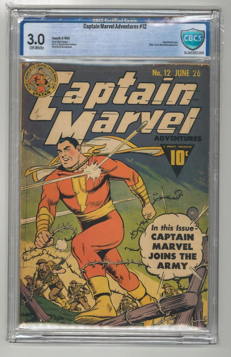 CBCS 3.0 Captain Marvel Adventures #12 1942