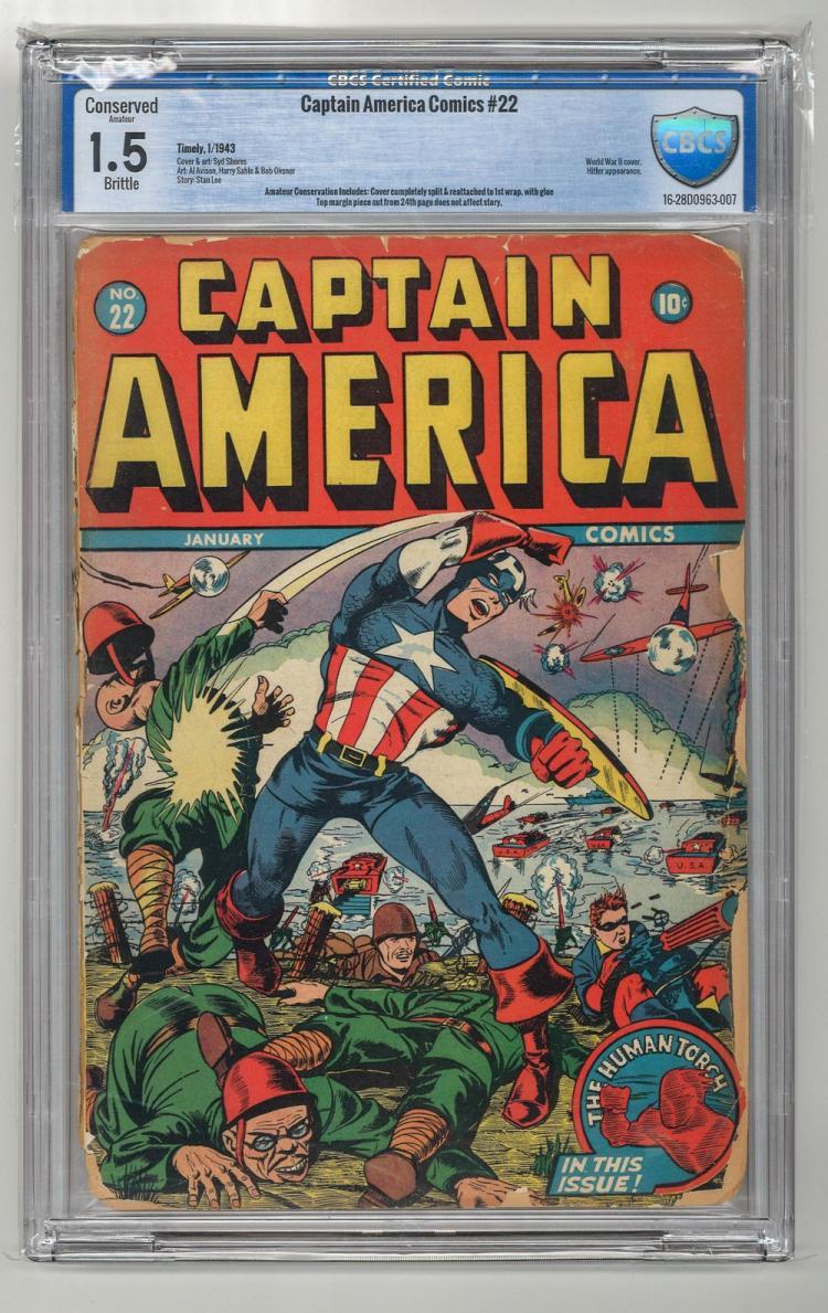 CBCS 1.5 Captain America #22 1943