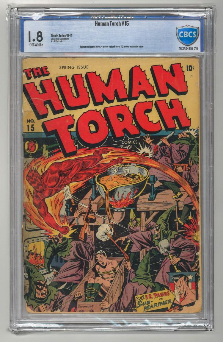 CBCS 1.8 Human Torch #15 1944