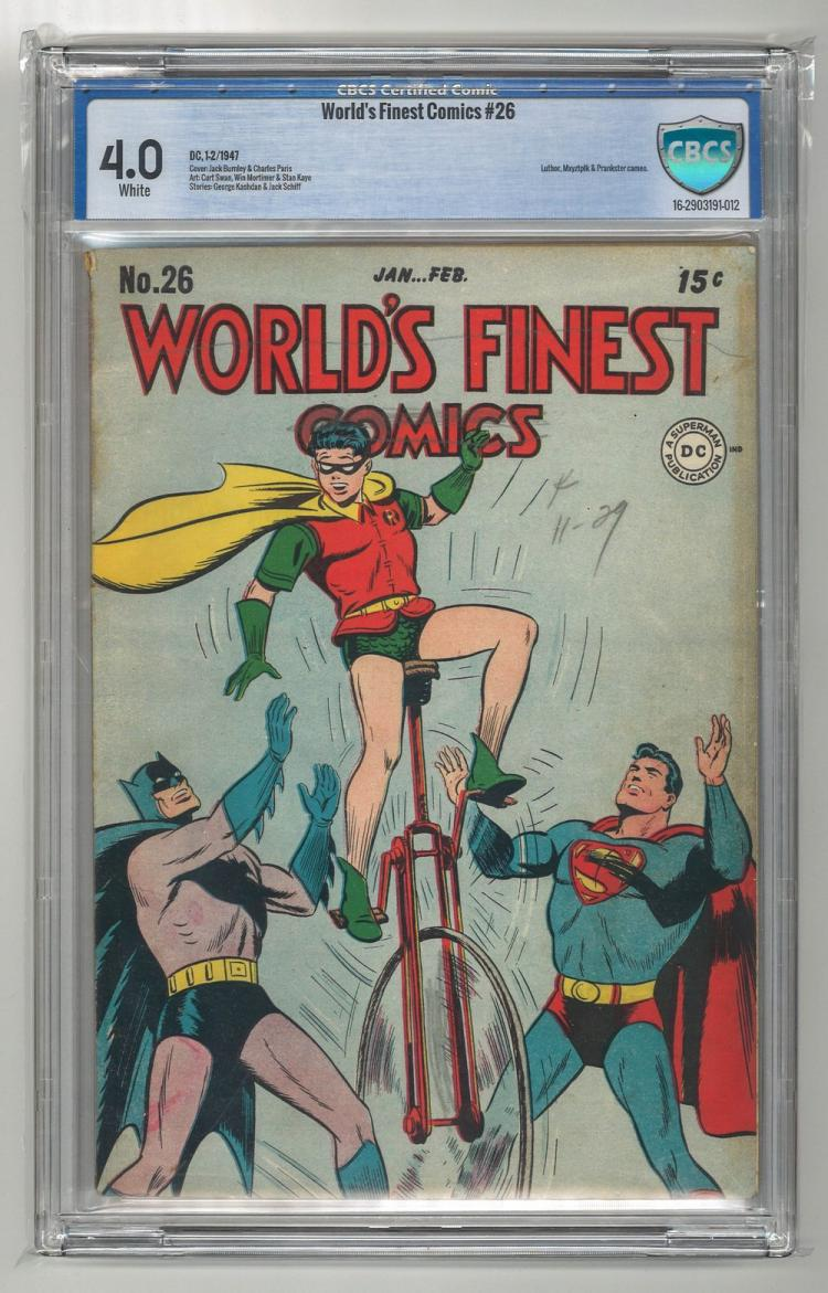 CBCS 4.0 World's Finest Comics #26 1947
