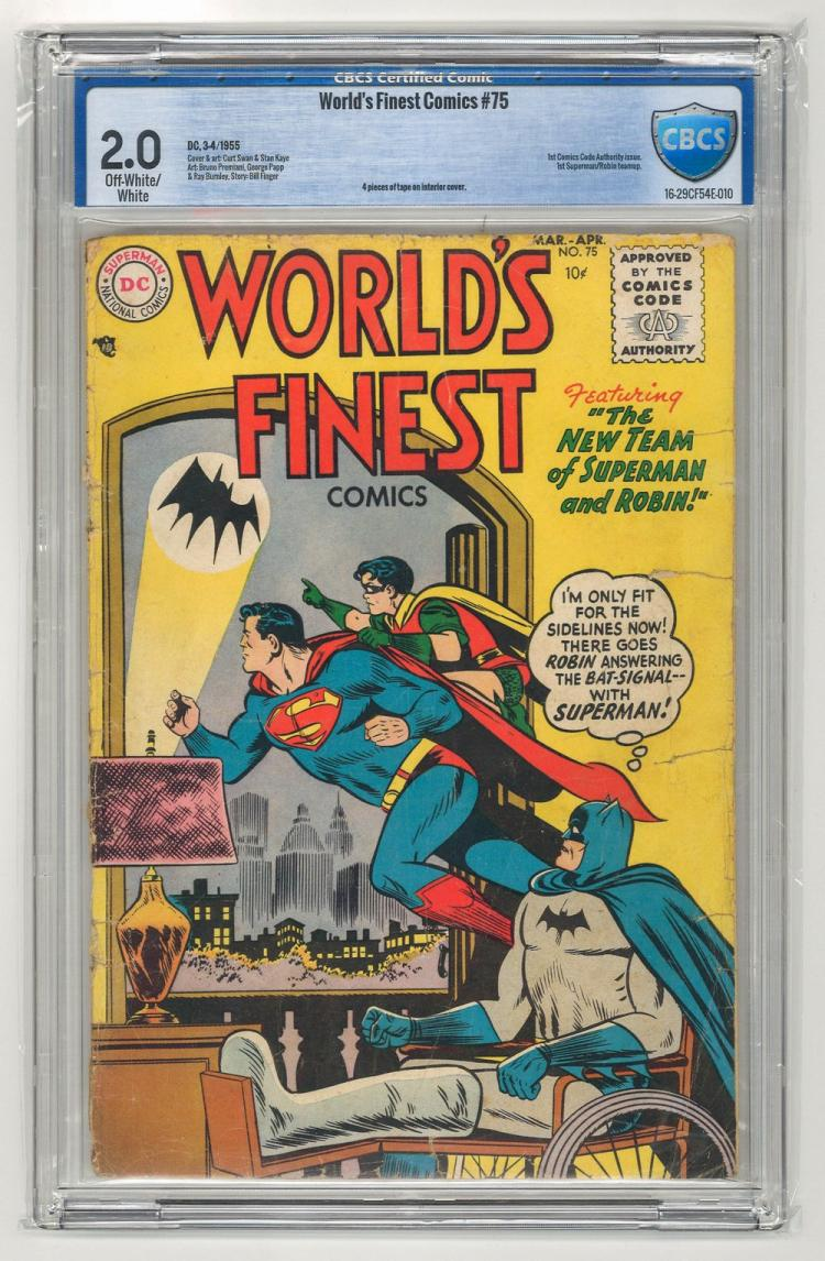 CBCS 2.0 World's Finest Comics #75 1955