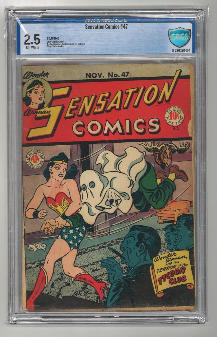 CBCS 2.5 Sensation Comics #47 1945