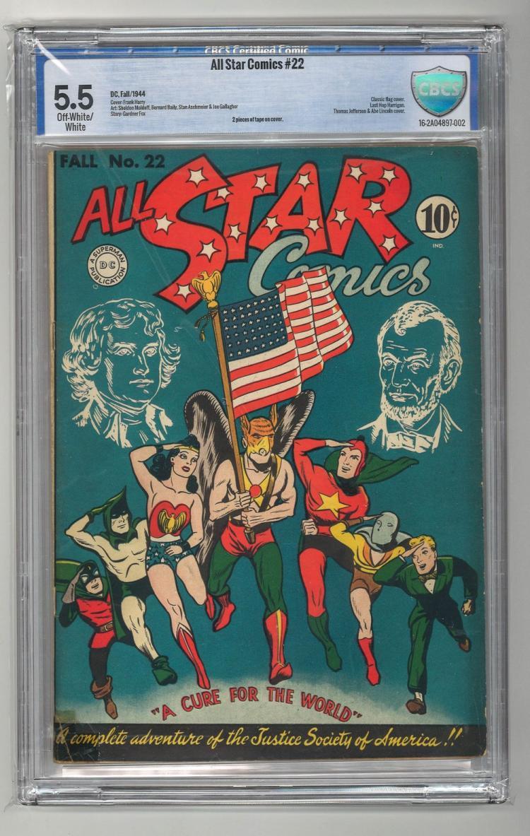 CBCS 5.5 All Star Comics #22 1944
