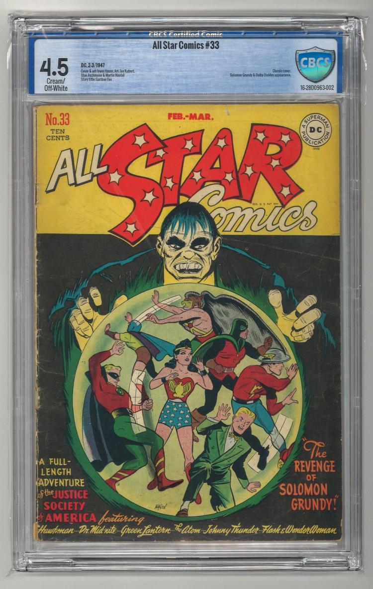 CBCS 4.5 All Star Comics #33 1947
