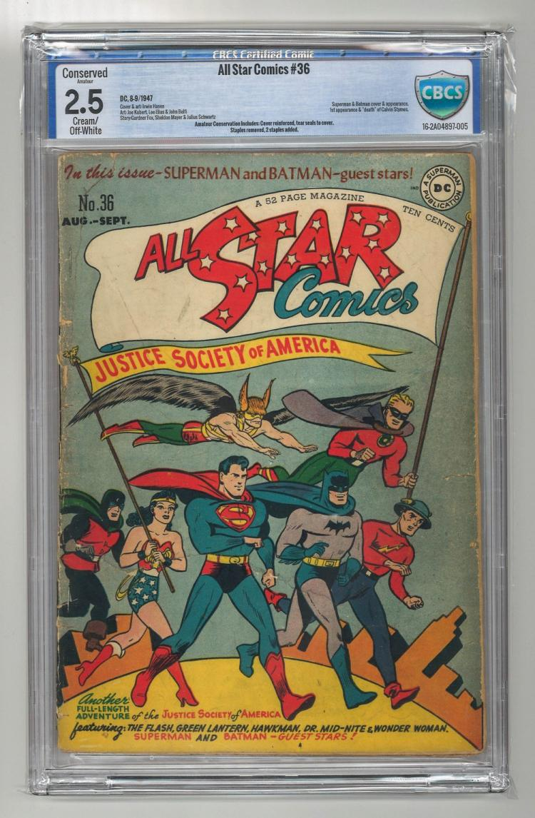 CBCS 2.5 All Star Comics #36 1947