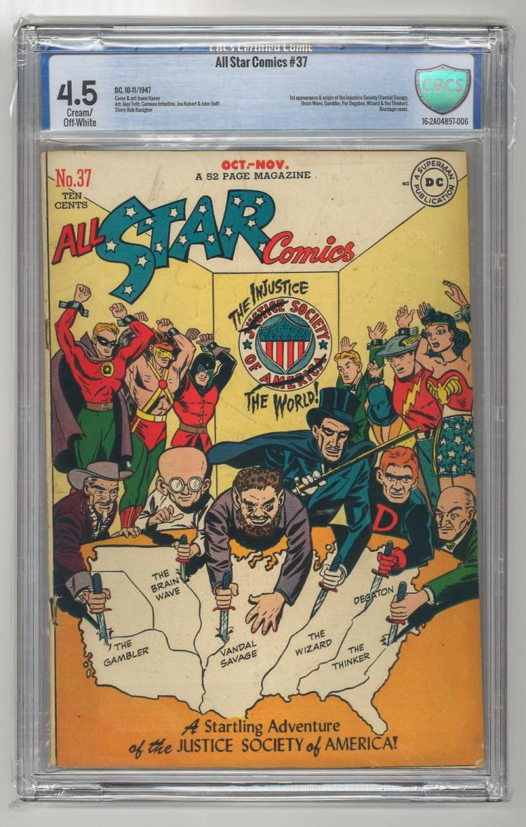 CBCS 4.5 All Star Comics #37 1947