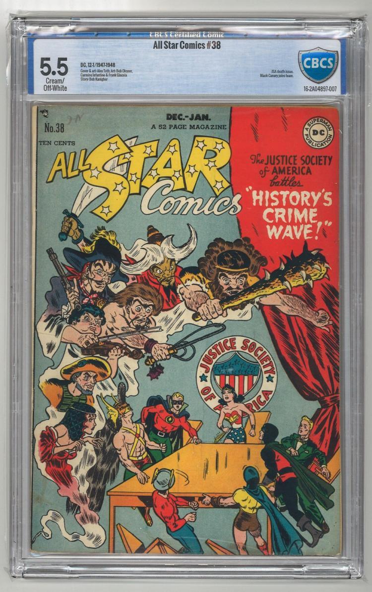 CBCS 5.5 All Star Comics #38 1947-1948