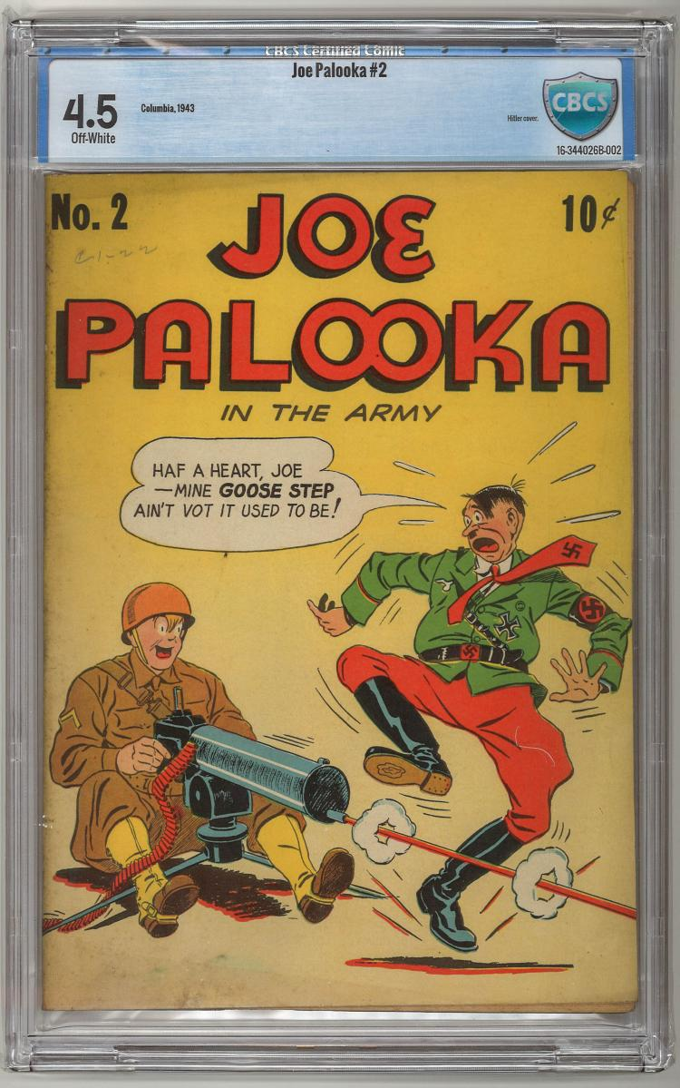 CBCS 4.5 Joe Palooka In the Army #2 Hitler Cover