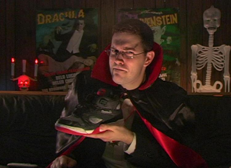 AVGN Episode Dracula Props - Reebok Air Pump Shoes
