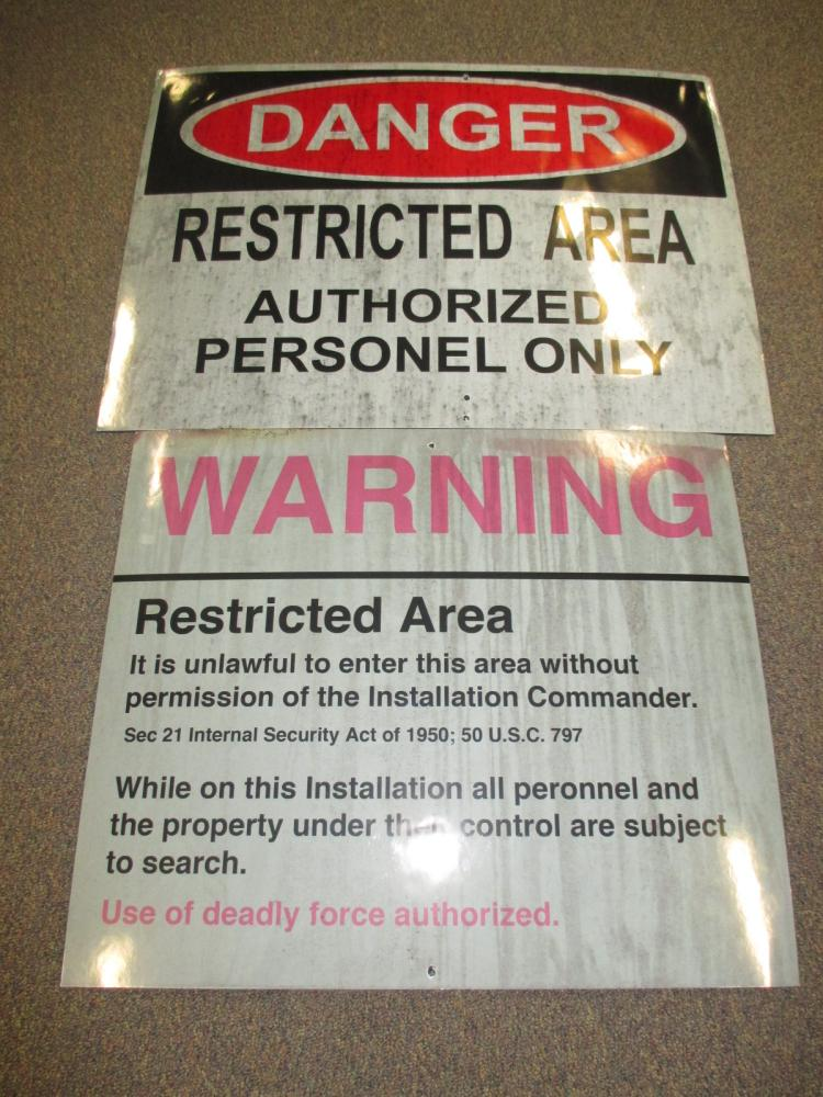 AVGN Movie Restricted Area & Danger Signs