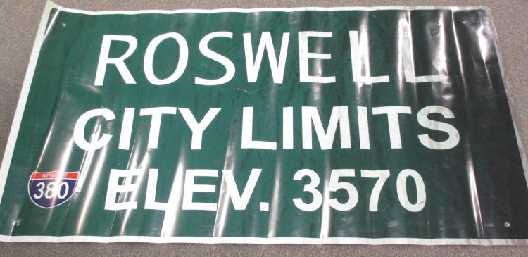 AVGN Movie Roswell City Limits Printed Sign