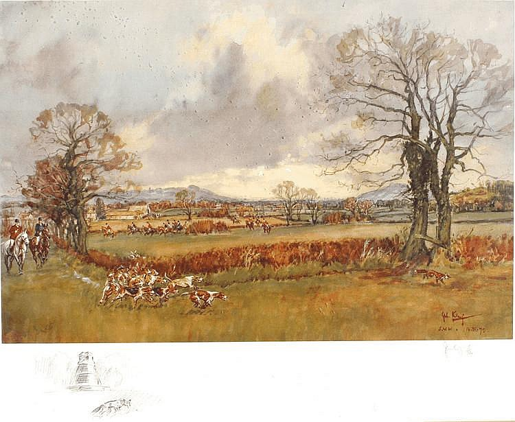 John King - THE SOUTH WEST WILTS HUNT - signed