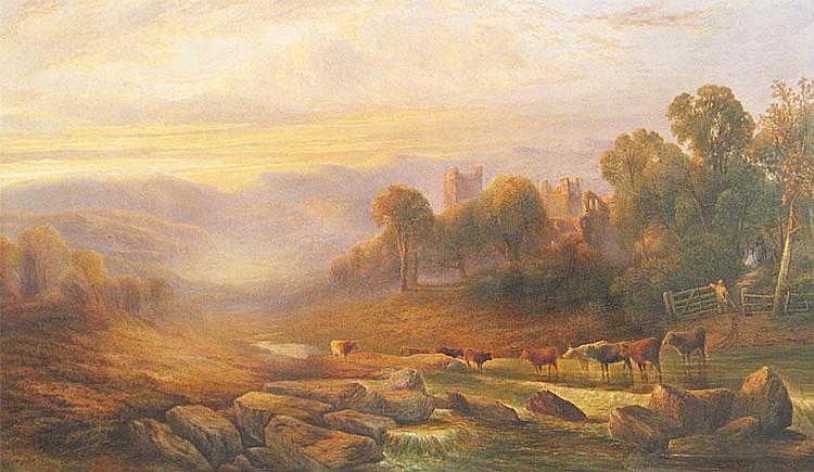 Henry Maplestone (1819-1884) - LANDSCAPE WITH