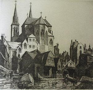 James Priddey, an etching of St. Chadd's
