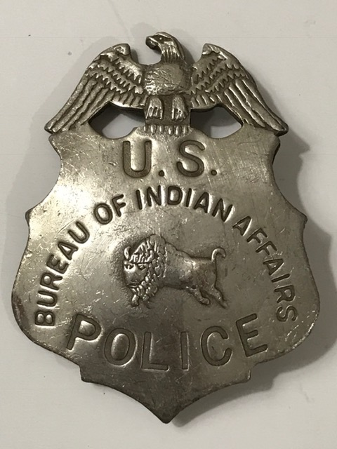 old west bureau of indian affairs us police badge. Black Bedroom Furniture Sets. Home Design Ideas