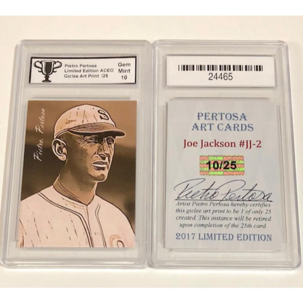 Shoeless Joe Jackson Baseball Card Only 25 Produced Si