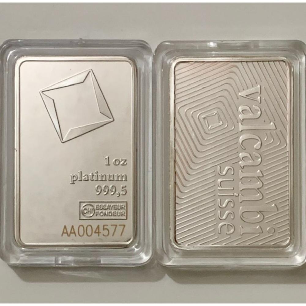 VALCAMBI SUISSE Mix Metals Platinum Novelty Bullion Bar