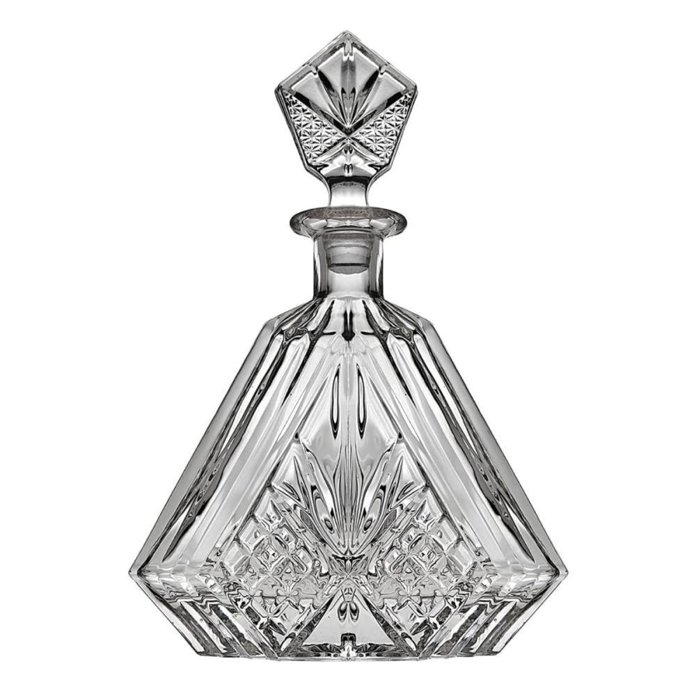 Awesome Irish Deep Cut Crystal Triangular Decanter