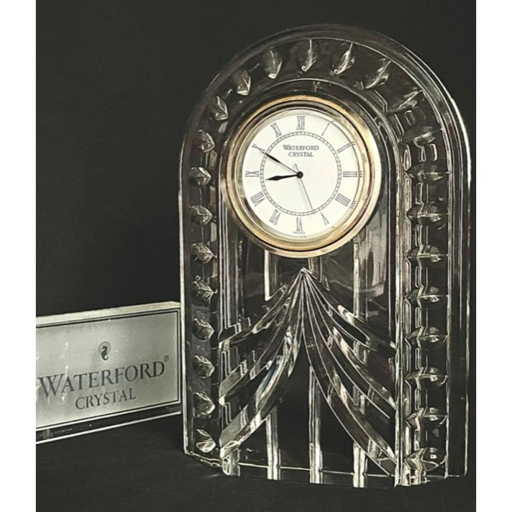 Large Irish WATERFORD Crystal Carriage Mantel Clock