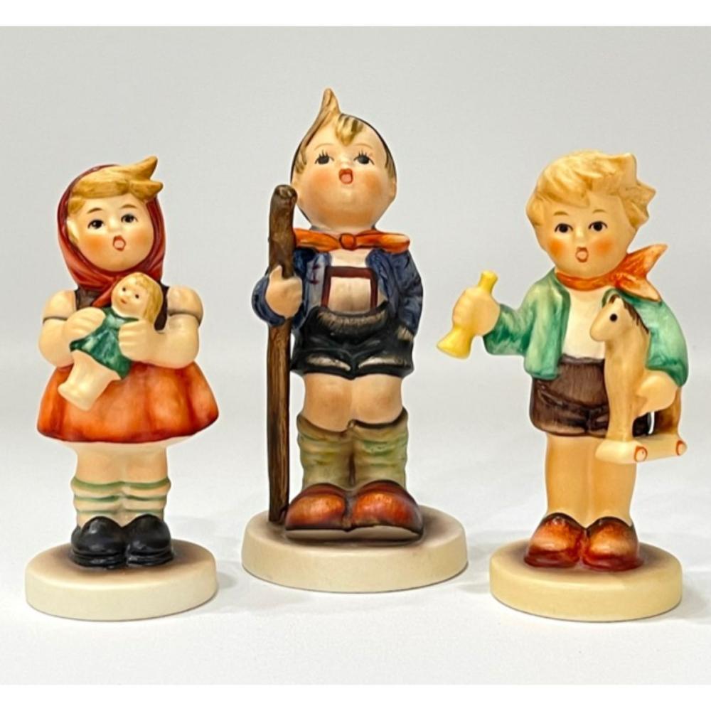 Lot of 3 Vintage MJ HUMMEL Goebel Porcelain Figurines
