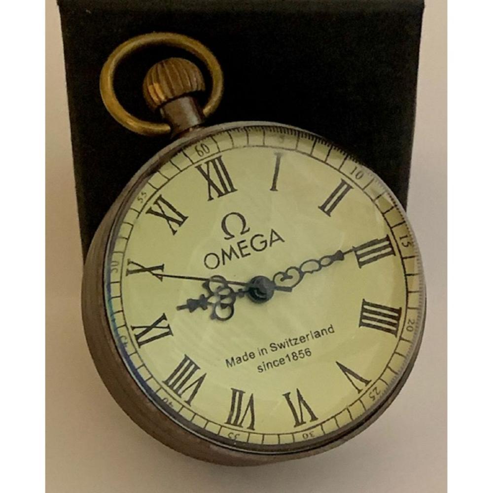 Signed OMEGA Mechanical Self Sitting Spherical Shelf Clock
