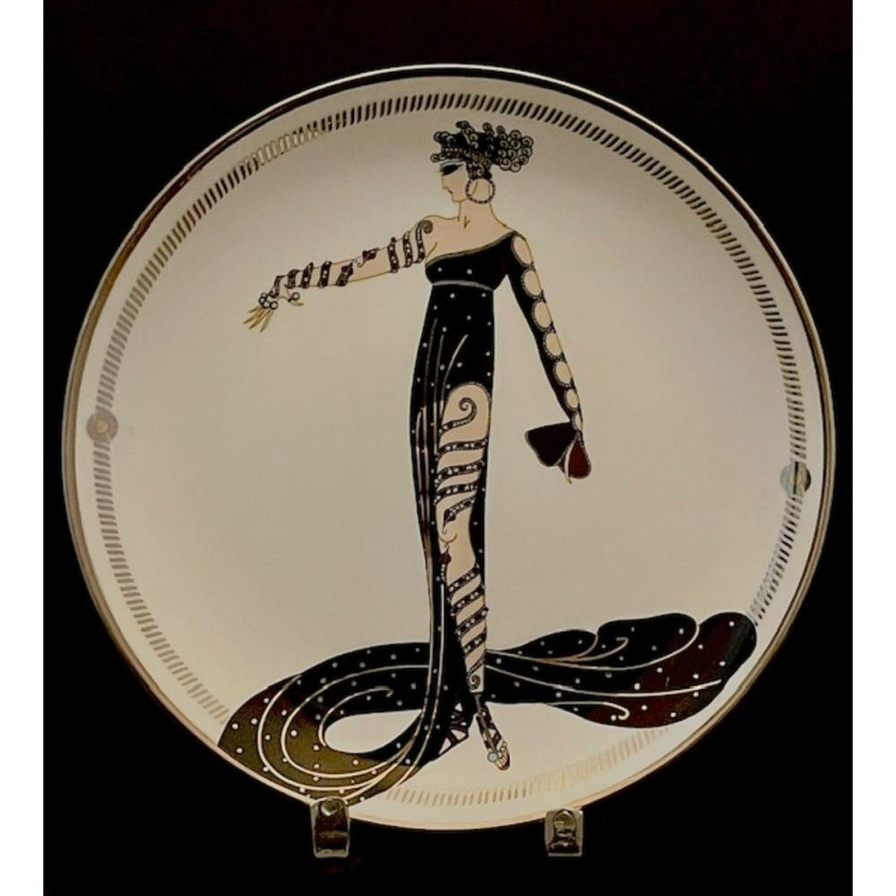Signed ERTE Art Deco Limited Edition Fine Porcelain