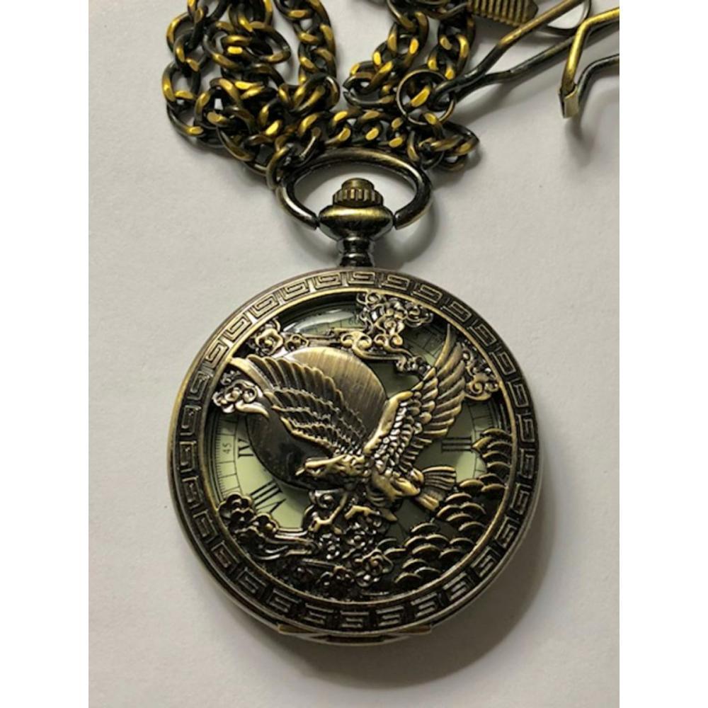 Signed OMEGA Mechanical Soaring Eagle Pocket Watch