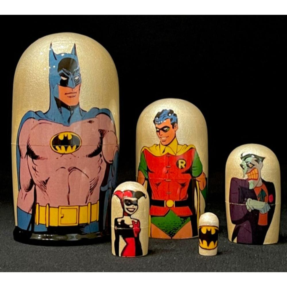 Rare D.C. Comics BATMAN Russian Made Nesting Dolls