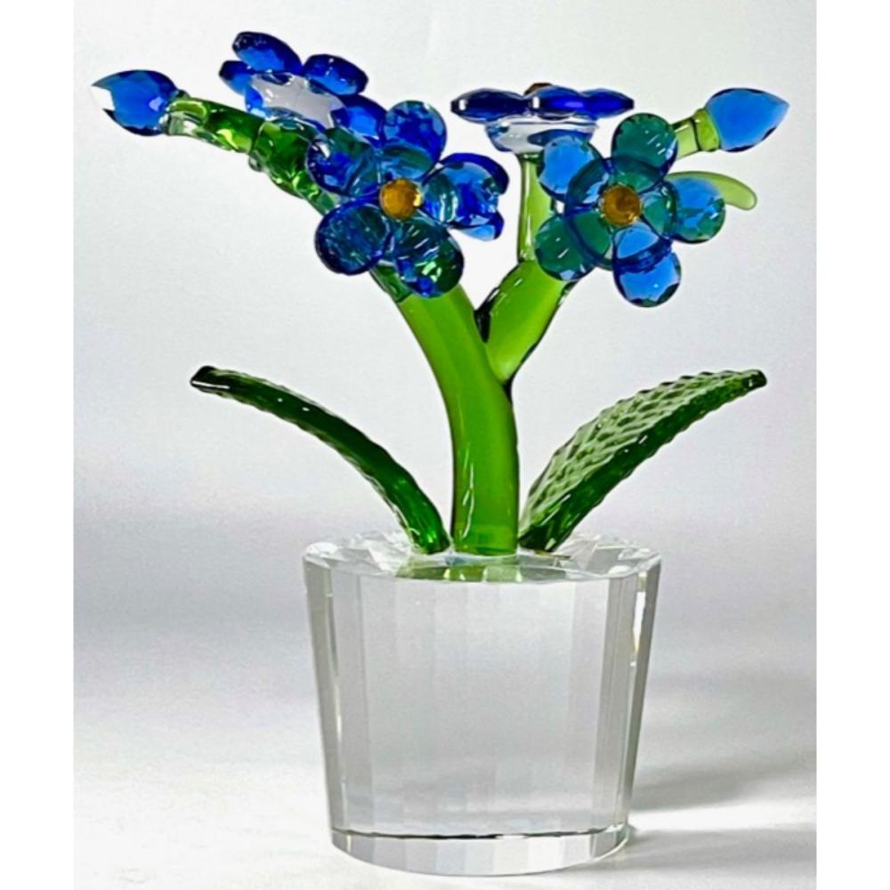 Austrian Iris Crystal Floral Bouquet Swarovski Style