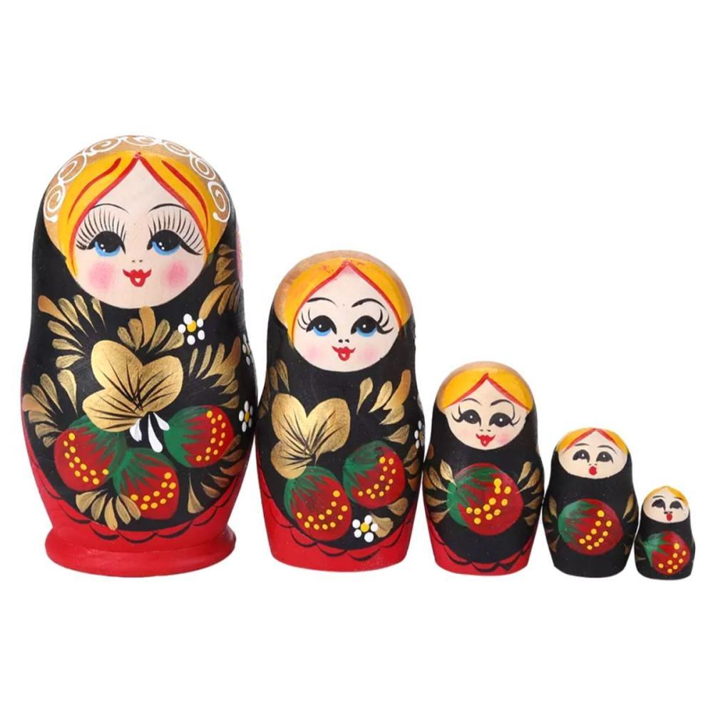 Hand Painted Russian Matryoshka Nesting Dolls