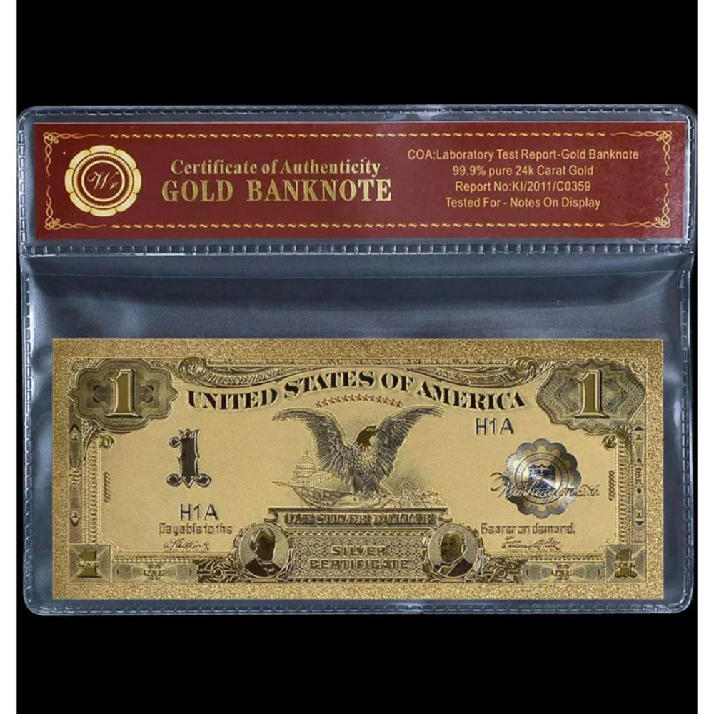 1899 Black Eagle 24k Gold Clad $1 Silver Certificate