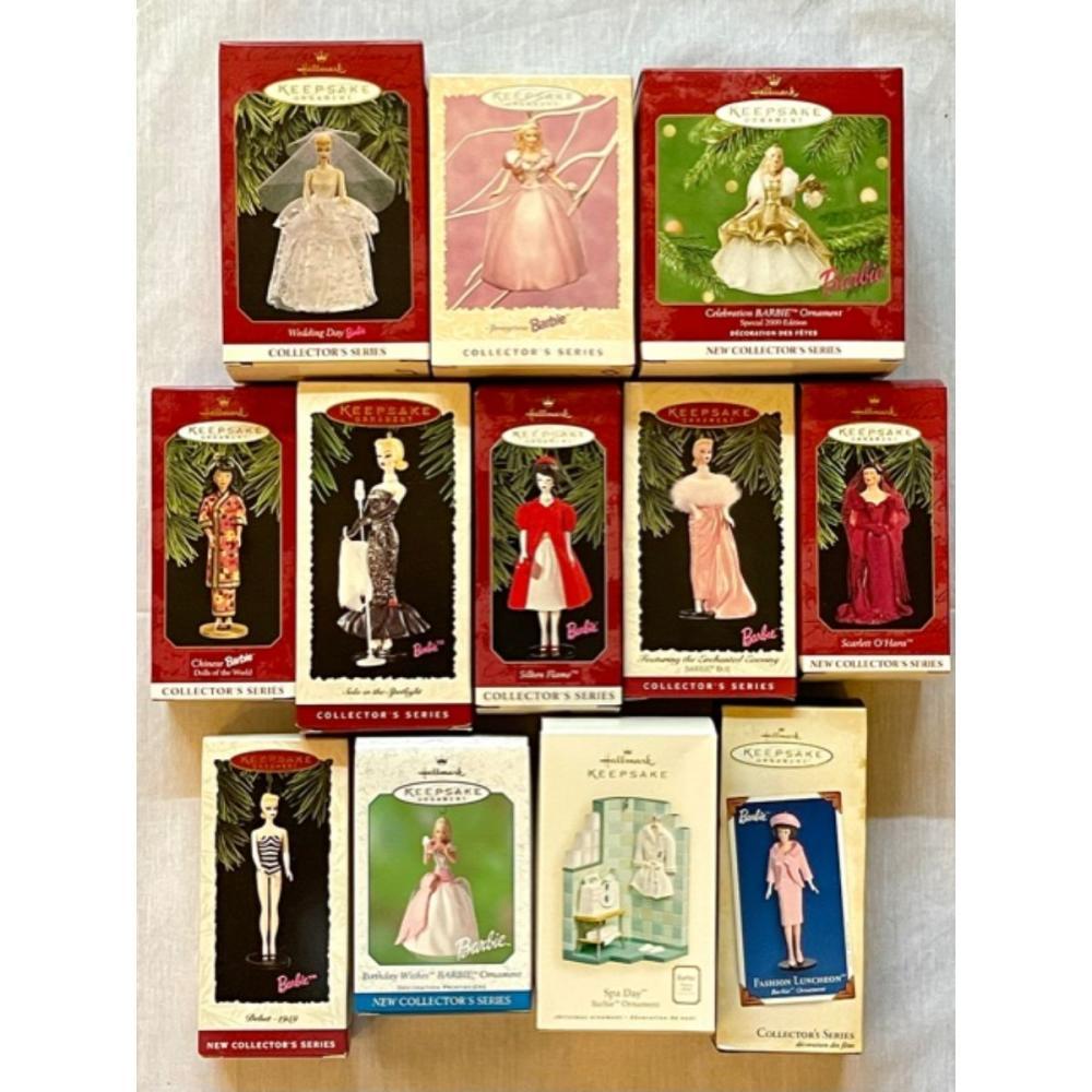 12 Vintage BARBIE Christmas Ornaments & Collectibles /D