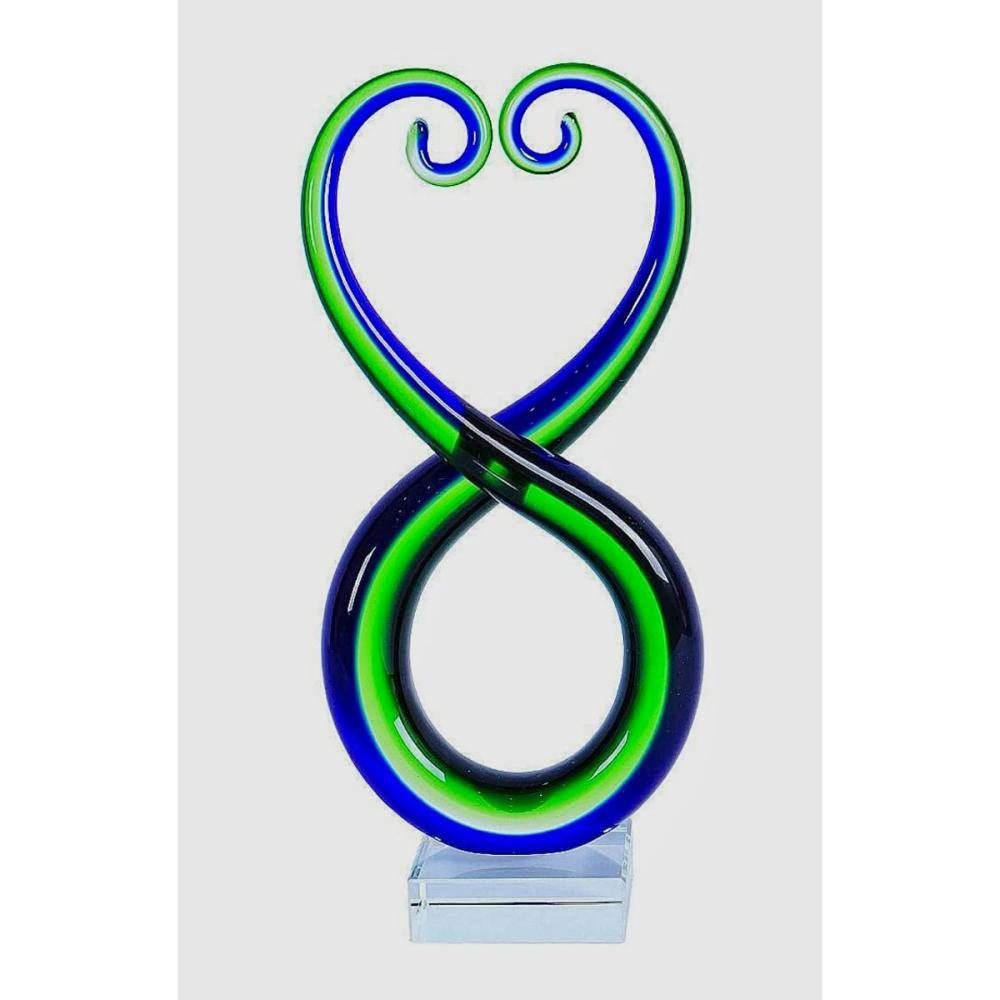 Beautiful MURANO Blown Art Glass Abstract Sculpture