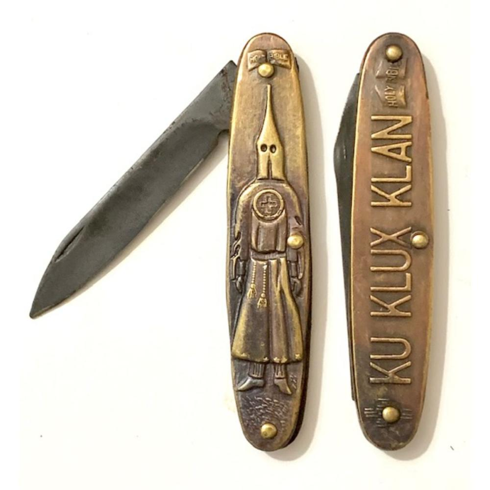 Knights of the Klan Double Sided Embossed Pocket Knife