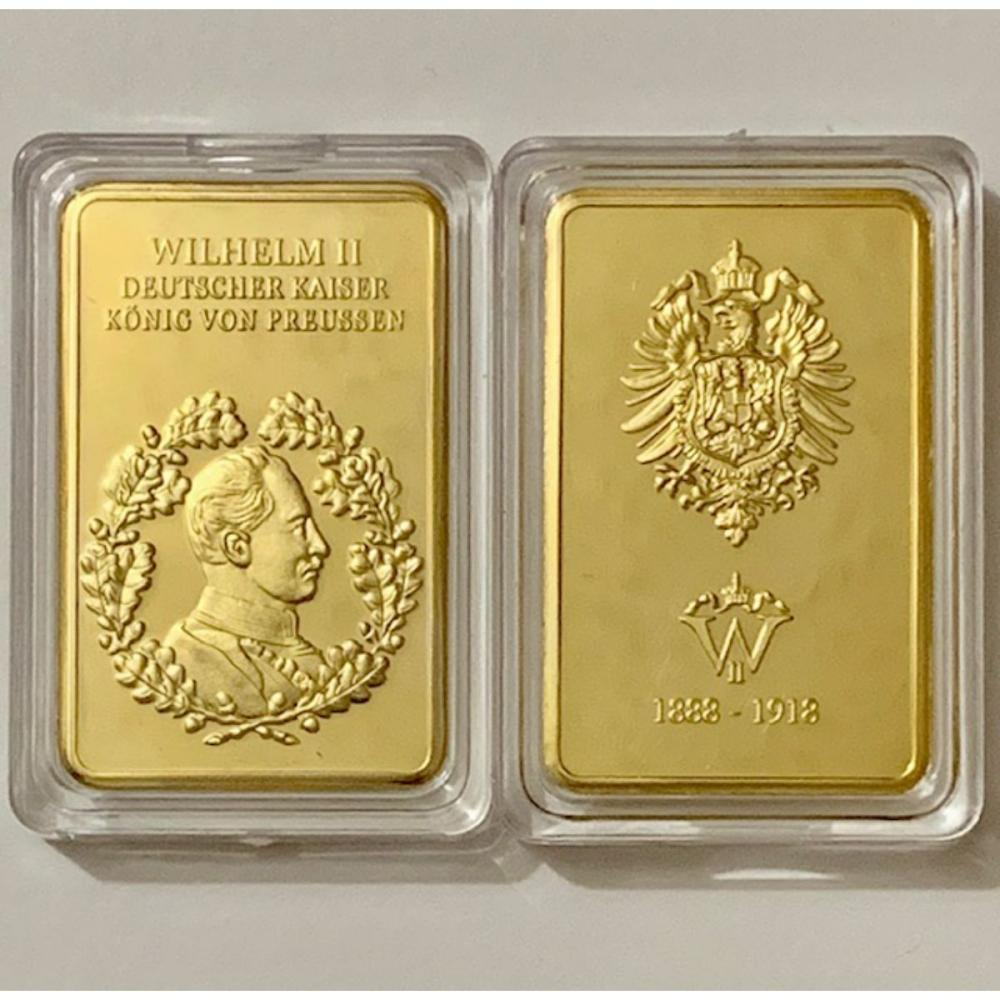 Konig Von Preussen German 1oz Gold Clad Bullion Bar