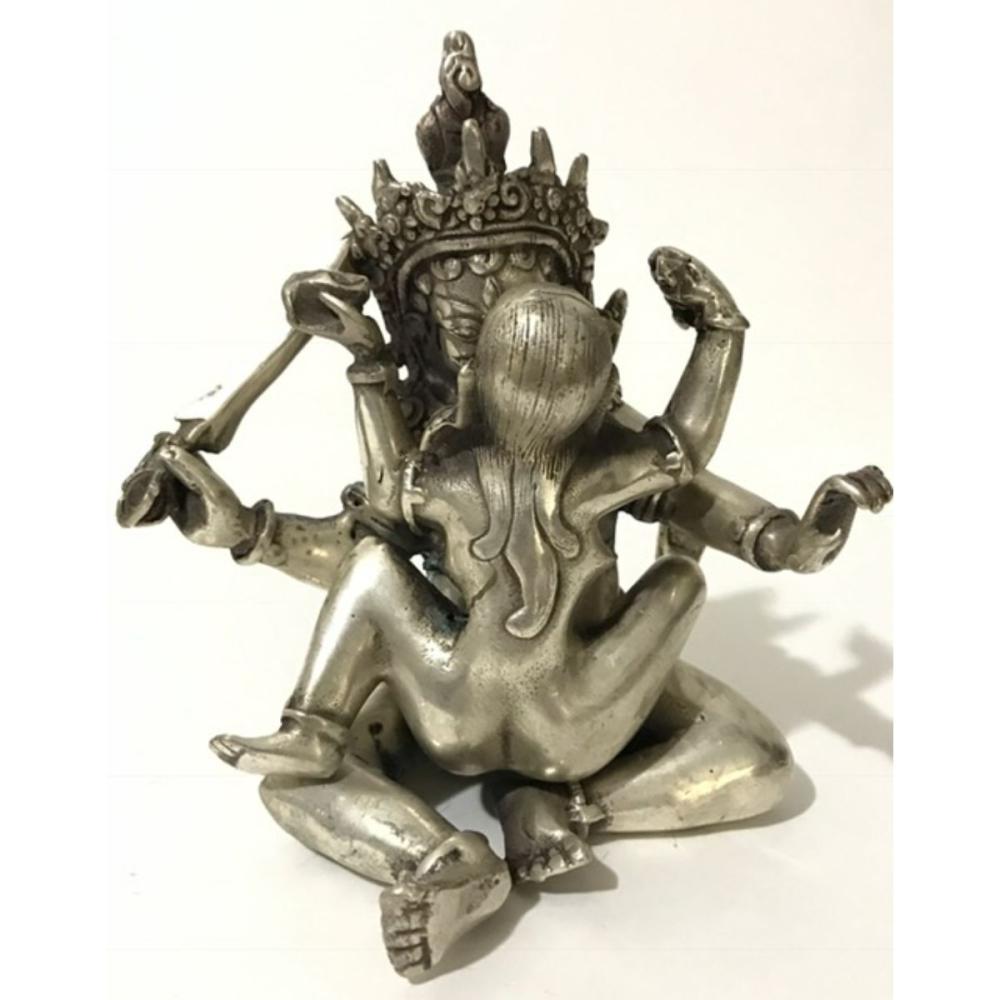 Early Tibetan Silver Erotic Chinese Kama-Sutra Sex BUDDHAS