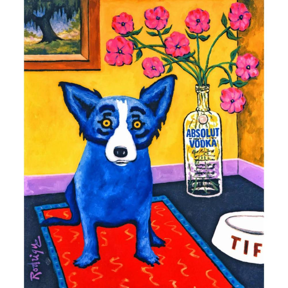 RODRIGUE Blue Dog Art Print on Canvas 16 x 20