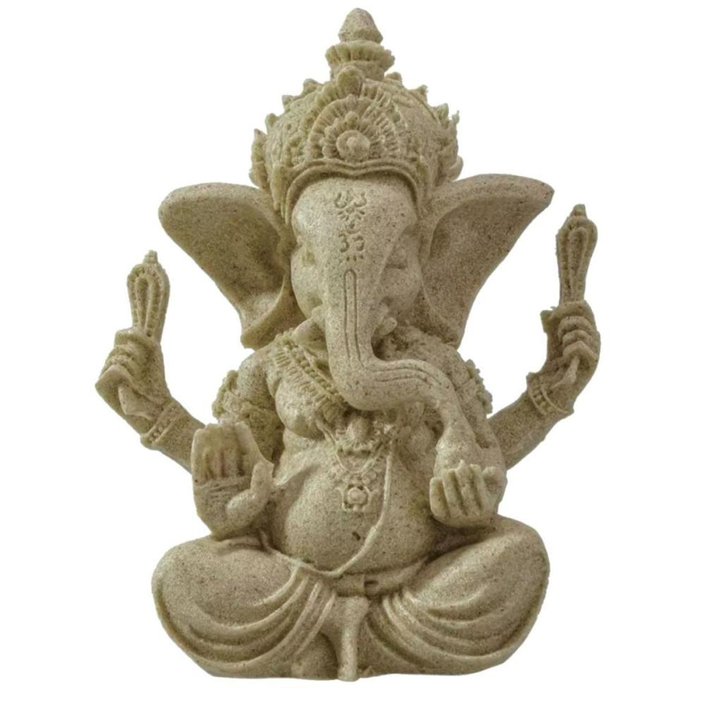 Ornate Sandstone Hindu Elephant Buddha Ganesh Statue
