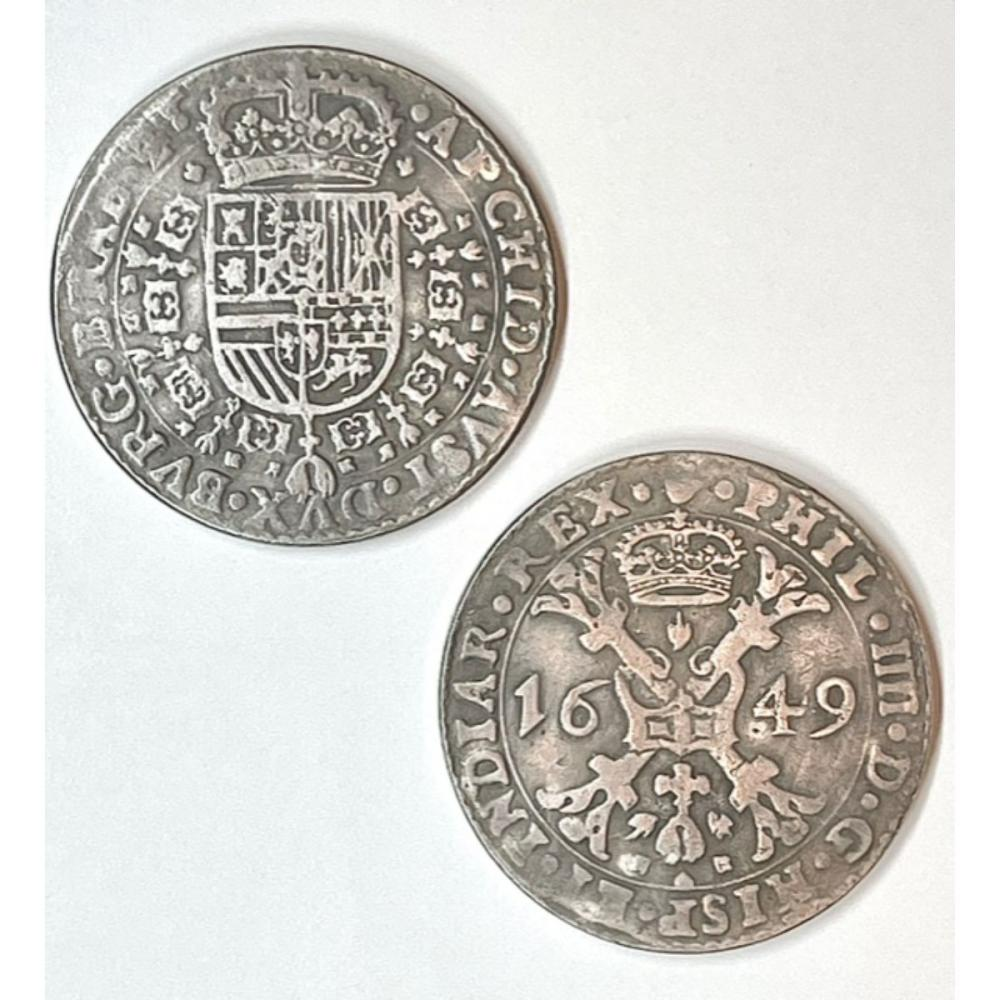 Dated 1649 Holy Roman Empire Large Silver tone Coin