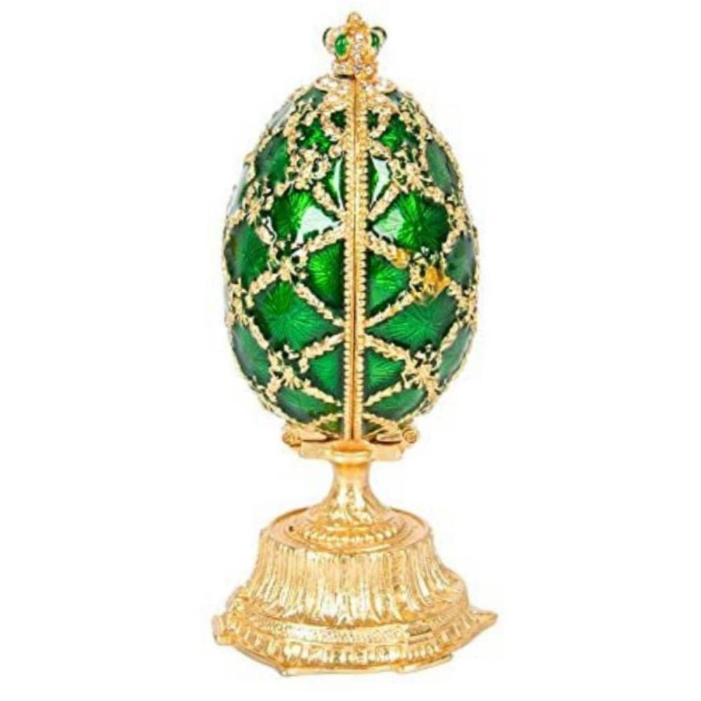 Gorgeous FABERGE Enameled & Studded Palatial Egg