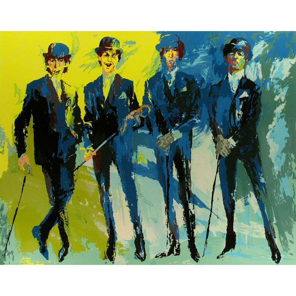 The BEATLES Print Art on Canvas by LeRoy Neiman