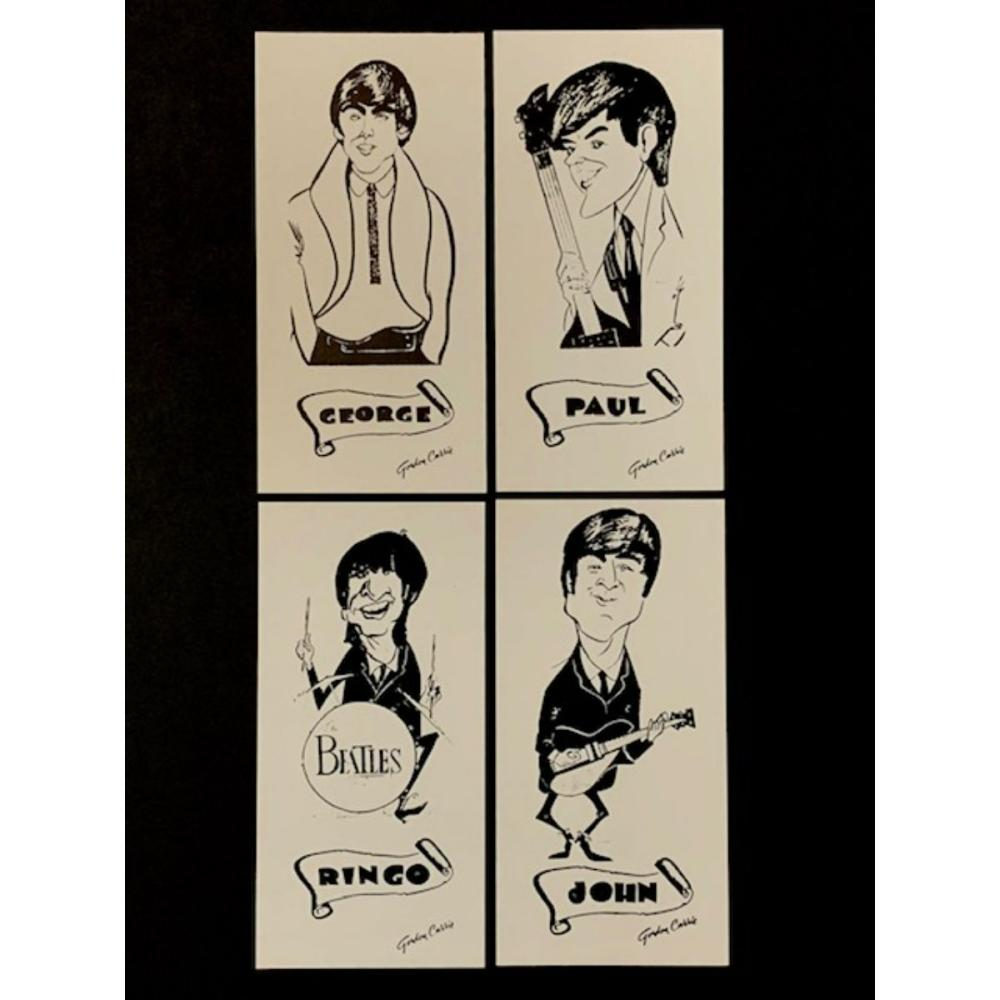 The BEATLES 1964 Sketch Cards Set by Gordon Currie