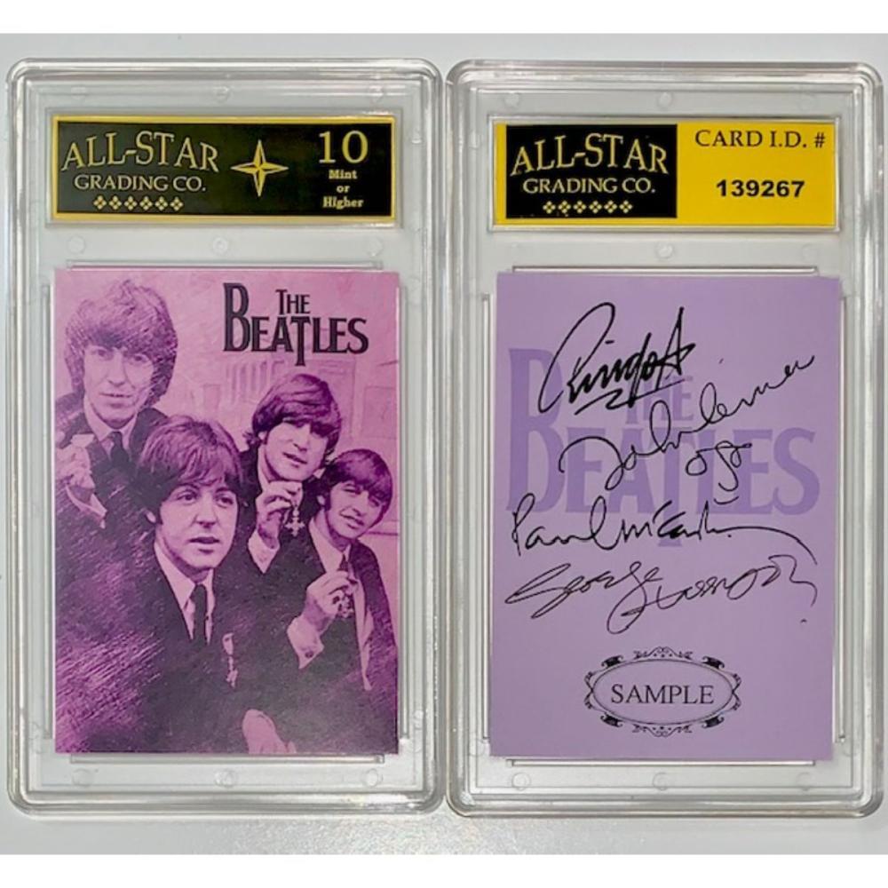 The BEATLES Facs Autographed Brush Art Sample Card